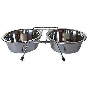 ICA Standard dobbelt stål Feeder (hunde, skåle, foderautomater & vand dispensere)