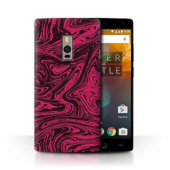 STUFF4 Case/Cover for OnePlus 2/Two/Red/Pink/Melted Liquid Metal Effect