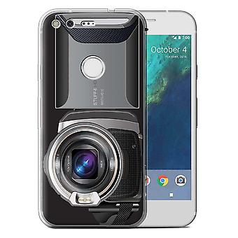 STUFF4 Gel TPU Case/Cover for Google Pixel (5.0'')/Video Camcorder/Camera