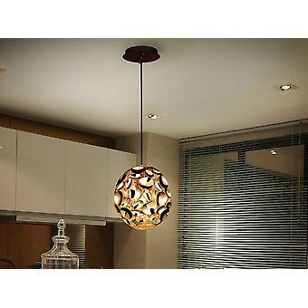 Schuller Narisa - Lampe de 1 lumière en métal avec or rose plaqué et peinture brun foncé. Longueur réglable. - 266035N