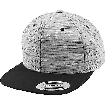 Flexfit By Yupoong Unisex Stripes Melange Crown Snapback Cap