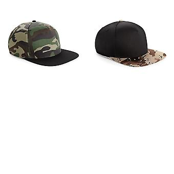 Beechfield Camouflage Retro Snapback Cap (Pack of 2)