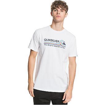 quiksilver stein kald klassisk kortermet t-skjorte i hvitt