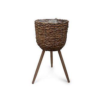Flèche de couleur naturelle de pot avec trois jambes 60 cm
