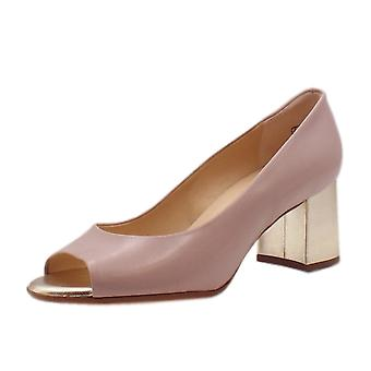 Peter Kaiser Frona Open Toe Wide Fit Shoes In Mauve Chevro