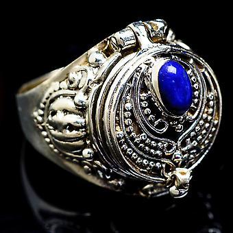 Large Lapis Lazuli Ring Size 7.25 (925 Sterling Silver)  - Handmade Boho Vintage Jewelry RING3390