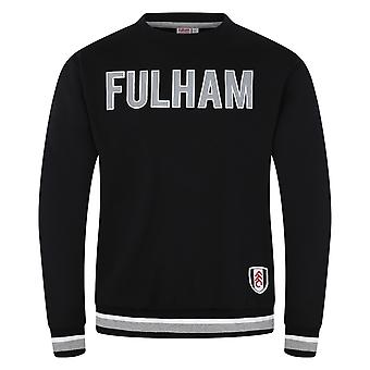 Fulham FC Official Football Gift Mens Crest Sweatshirt Top