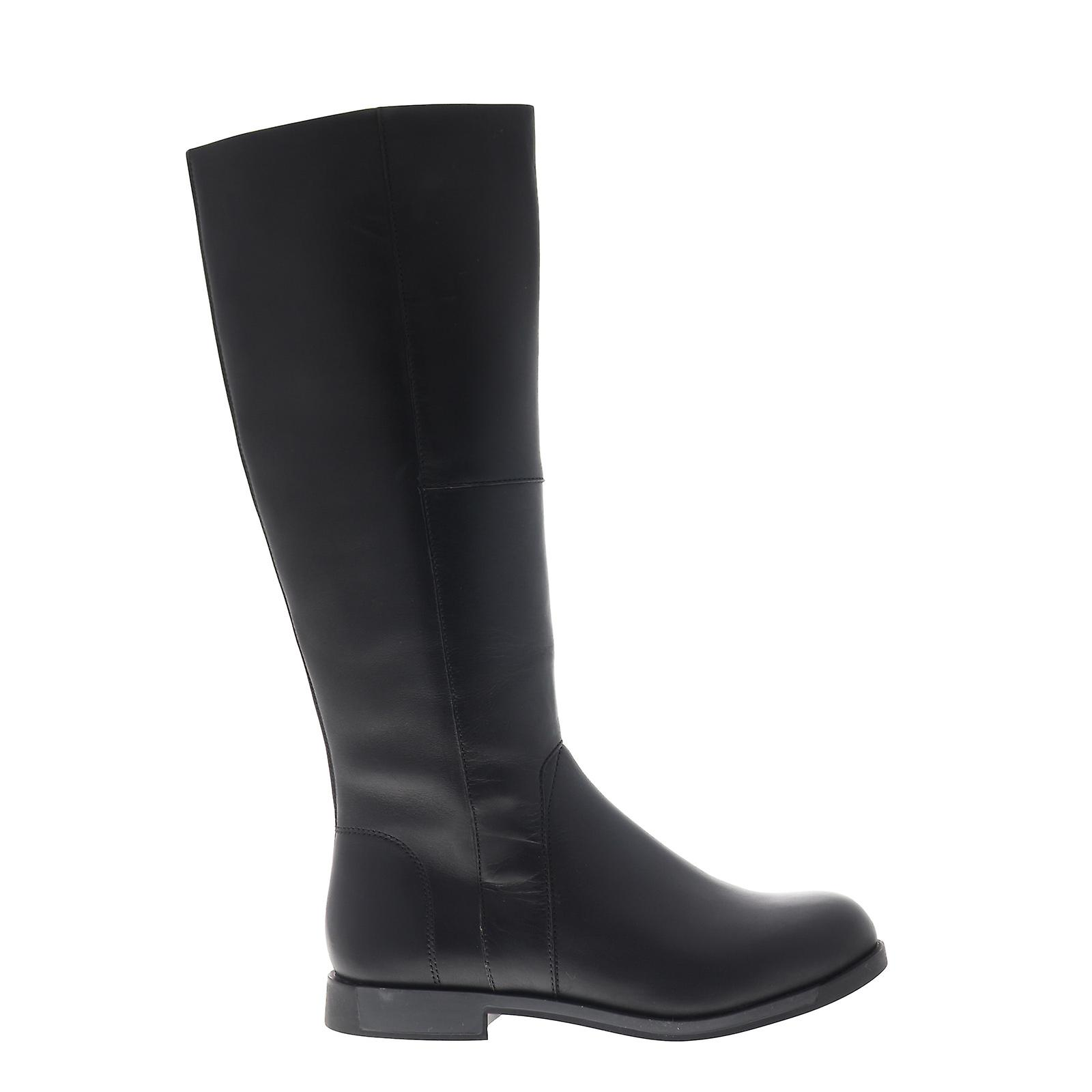 Camper Bowie  Womens Black Leather Zipper Casual Dress Boots