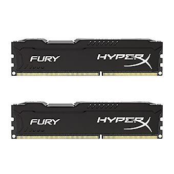 HyperX HX316C10FBK2/8 Fury 8 GB (2 x 4 GB), 1600 MHz, DDR3, CL10, UDIMM, 1.35V, Black
