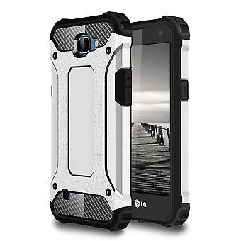 Shell for LG K4 Armor Silver Protection Case Hard