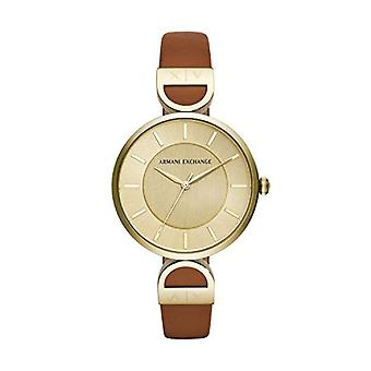 Armani Exchange Ladies Quartz analogue watch with leather strap AX5324