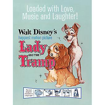 Lady and the Tramp Love, Music and Laughter Canvas Plate 30-40cm
