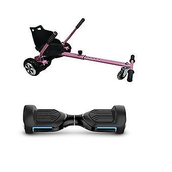 Pink GoRacer Hoverkart with 6.5 G PRO Black 5.0 Bluetooth Hoverboard Segboard , Segway