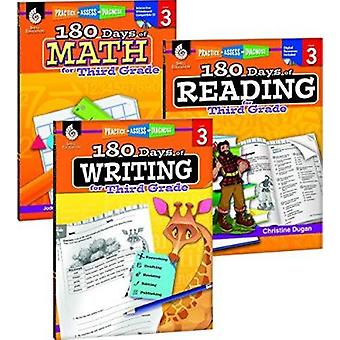 180 Days of Reading - Writing and Math for Third Grade 3-Book Set by