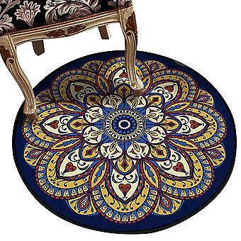 Rond vintage bedrukt decoratief tapijt