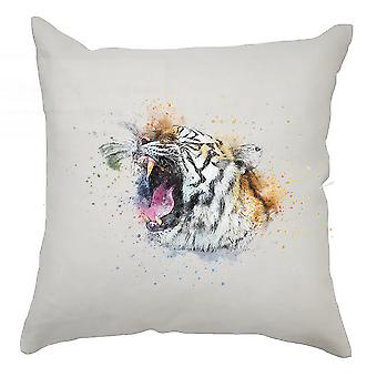 Watercolour Cushion Cover 40cm x 40cm Tiger