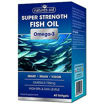 Nature's Aid Super Strength Fish Oil Softgels 60 (129620)