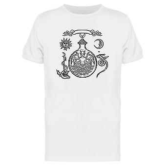Mystiset käärmeet Tee Men's -Image Shutterstock
