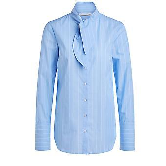 Oui Blue & White Striped Shirt