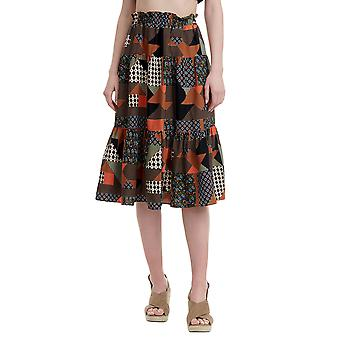 Funky Buddha Women's A Line Skirt In Allover Print