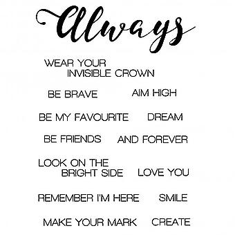 """Woodware Clear Stamps 3.5""""x5.5"""" – Always"""