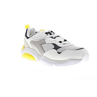 Diadora Whizz Run Mens White Lace Up Low Top Sneakers Chaussures