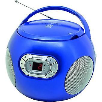 soundmaster SCD2120BL Radio CD-afspiller FM AUX, CD Blue