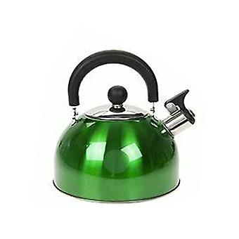Summit 2.0L Whistling Kettle with Colour Coating Kitchenware Camping - 1 Unit Green Kettle