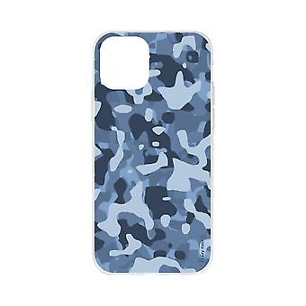 Fall für iPhone 11 Soft Blue Military Camouflage
