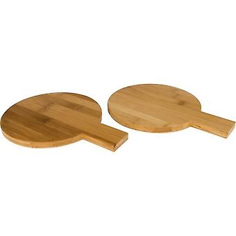 Avenue 2-piece Bamboo Round Amuse Set