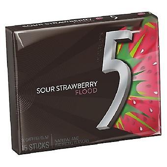 Wrigley's 5 Strawberry Flood Gum 3 pk