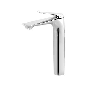 Bathroom Solid Brass Chrome Tall Basin Mixer Tap Vanity Top Tap
