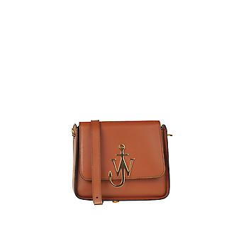 J.w. Anderson Ezgl475005 Women's Brown Leather Shoulder Bag