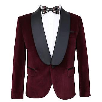 Kingsman Harry Hart Velvet Burgundy Tuxedo Jacket for Boys