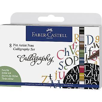 Faber Castell Drawing Pen Pitt Artist Set Calligraphy (8pcs) (FC-167508)