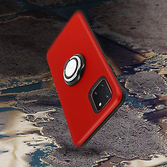 Back cover Galaxy Note 10 Lite Anti-shock Support ring Red