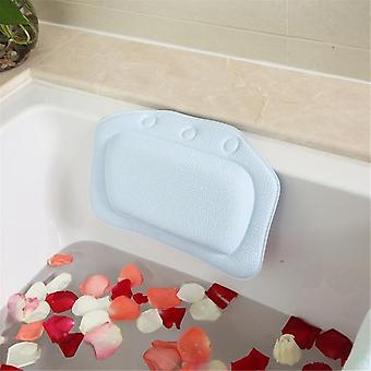 Soft Bathtub Headrest Waterproof Pvc Bath Pillows Cushion With Suction Cups