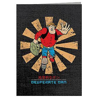 Desperate Dan Retro japansk lykønskningskort