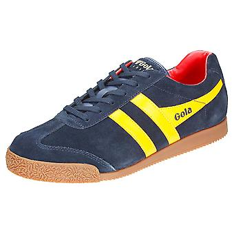 Gola Harrier Mens Classic Trainers in Navy Sun Red