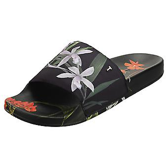 Ted Baker Avelinh Womens Slide Sandals in Black Multicolour