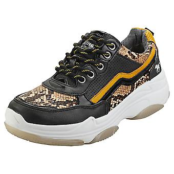 Mustang Sneaker Womens Fashion Trainers in Black