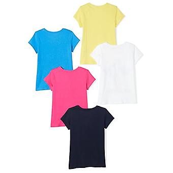 Spotted Zebra Toddler Girls' 5-Pack Short-Sleeve T-Shirts, Colors Are Beautif...