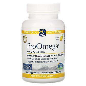 Nordic Naturals, ProOmega, Citroen, 1.000 mg, 60 Zachte Gels