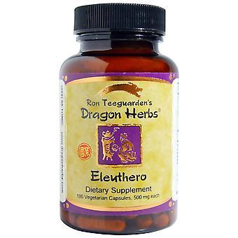 Dragon Herbs, Eleuthero, 500 mg, 100 Vegetarian Capsules