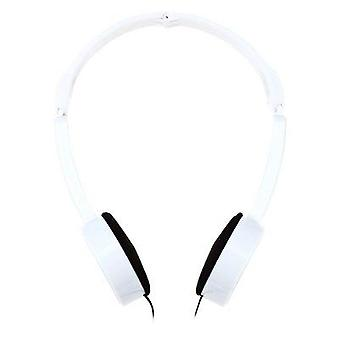 Retractable foldable over-ear headphone with mic stereo bass