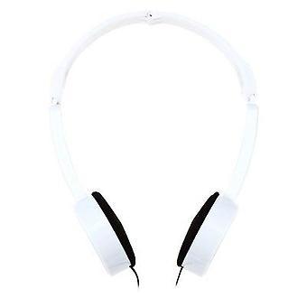 Intrekbare opvouwbare over-ear hoofdtelefoon met microfoon stereo bas