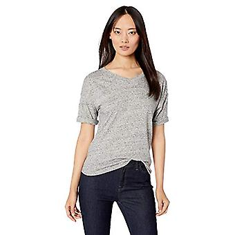 Marca - Daily Ritual Women's Washed Cotton 1/2-Sleeve V-Neck Camiseta, ...