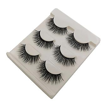New 3 Pairs Natural False Eyelashes - Fake Lashes, Long Makeup Eyelashes