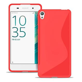 Sony Xperia E5 Rubber Ultra-Thin Light Common Colors Bumper Bumper Red
