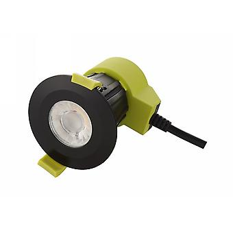 Dimmable LED Recessed Downlight, Matt Black, 38 gradi Angolo del fascio, 840lm, 5000K, IP65, DRIVER INCLUDED